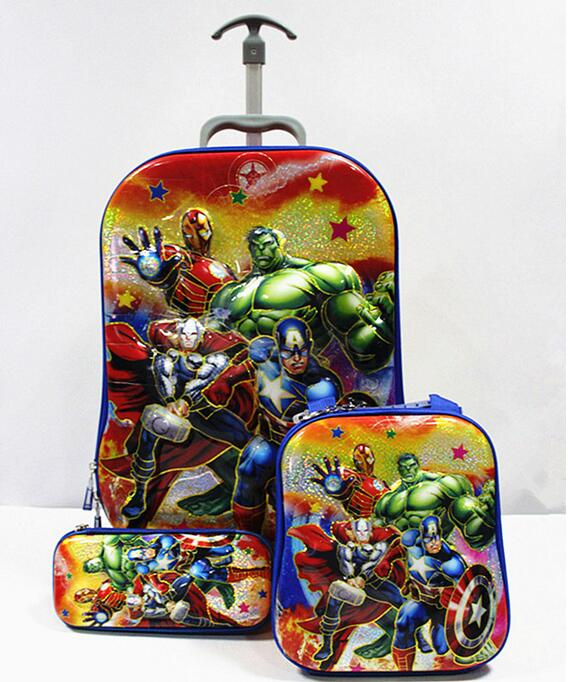 ФОТО New League of Legends 16inch 6D luggage sets  travel suitcase wheel (lunch box + pen boxes+trolley luggage ) EVA trolley case