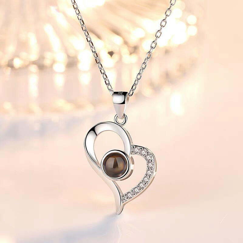 Love Heart Romantic Love Memory Wedding Necklace 1