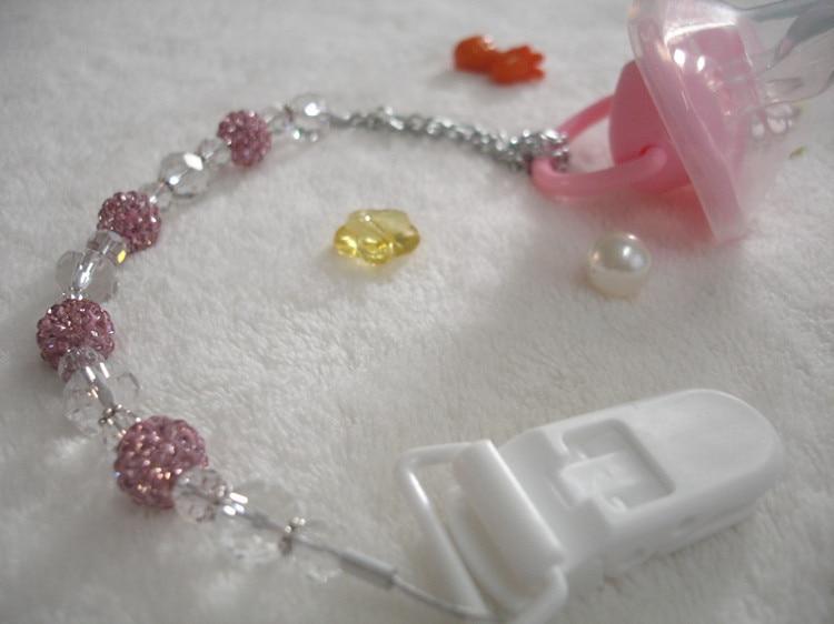 MIYOCAR Bedøvelse Prinsesse pink bling krystal håndlavet pacifier - Fodring et barn - Foto 5