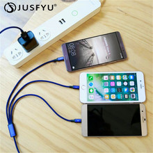 for iPhone/Android/Type C 3 in 1 Micro USB 1.2M Cable Universal 2.4A fast Charge for Mobile Phones Charging Cables 8Pin Quick цена 2017