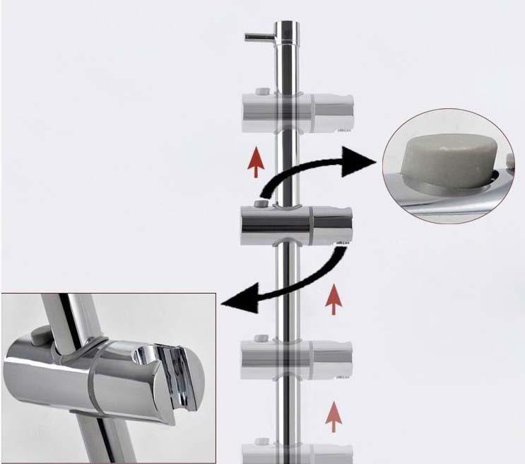 25 мм ABS пластик ручной душ Монтажный кронштейн держатель для раздвижной бар, кран аксессуар