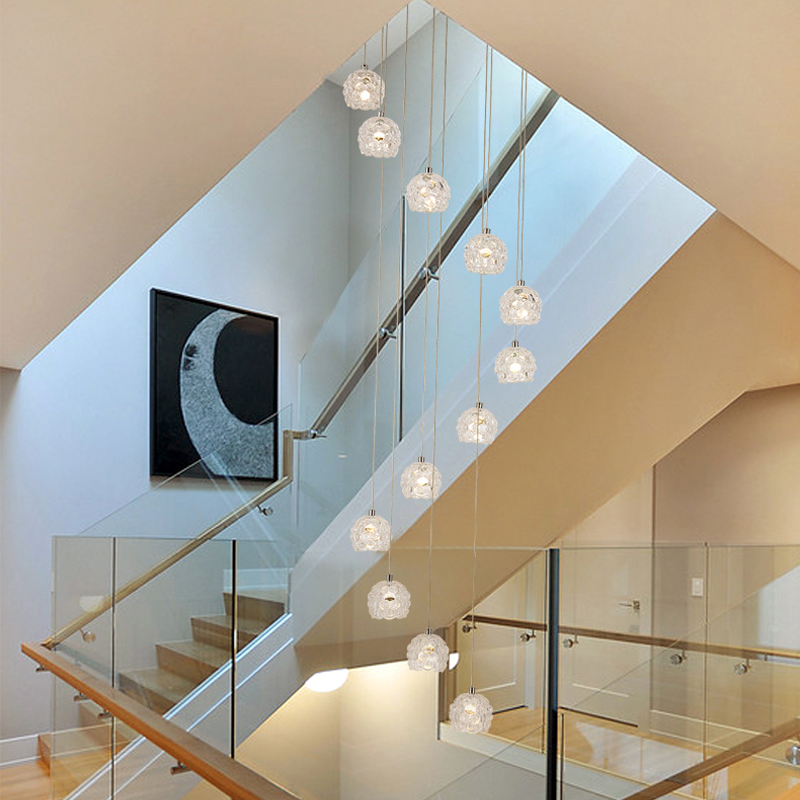 Aliexpress.com : Buy Cascade Pendant Chandelier On The Stairs Warehouse  Light Spiral Chandeliers For Staircases Glass Ball Chandelier Hanging  Lights From ...