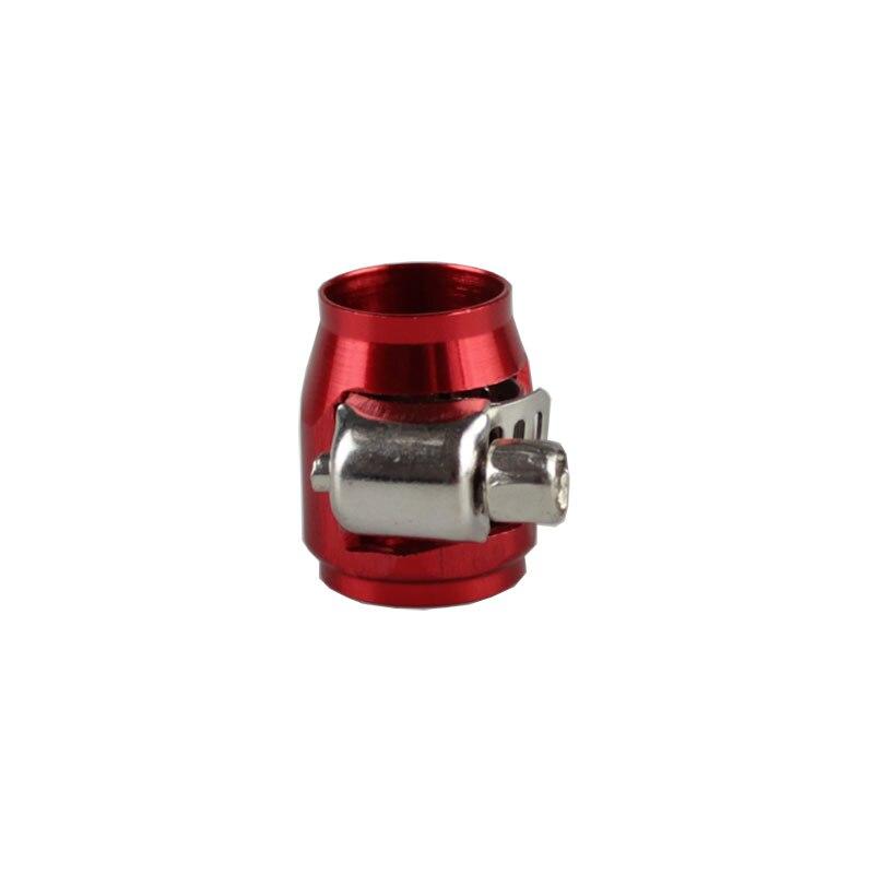 Rastp-красочные применяются к AN8 масляные зажимы для топливного шланга концевые Отделители Алюминиевый шланг соединитель для шланга зажимы RS-TC008-AN8 - Цвет: Red