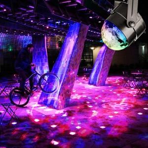 Image 5 - Mini uzaktan RGB LED kristal sihirli dönen top sahne ışıkları ses aktif disko ışık müzik noel KTV parti ab/ abd/İngiltere tak