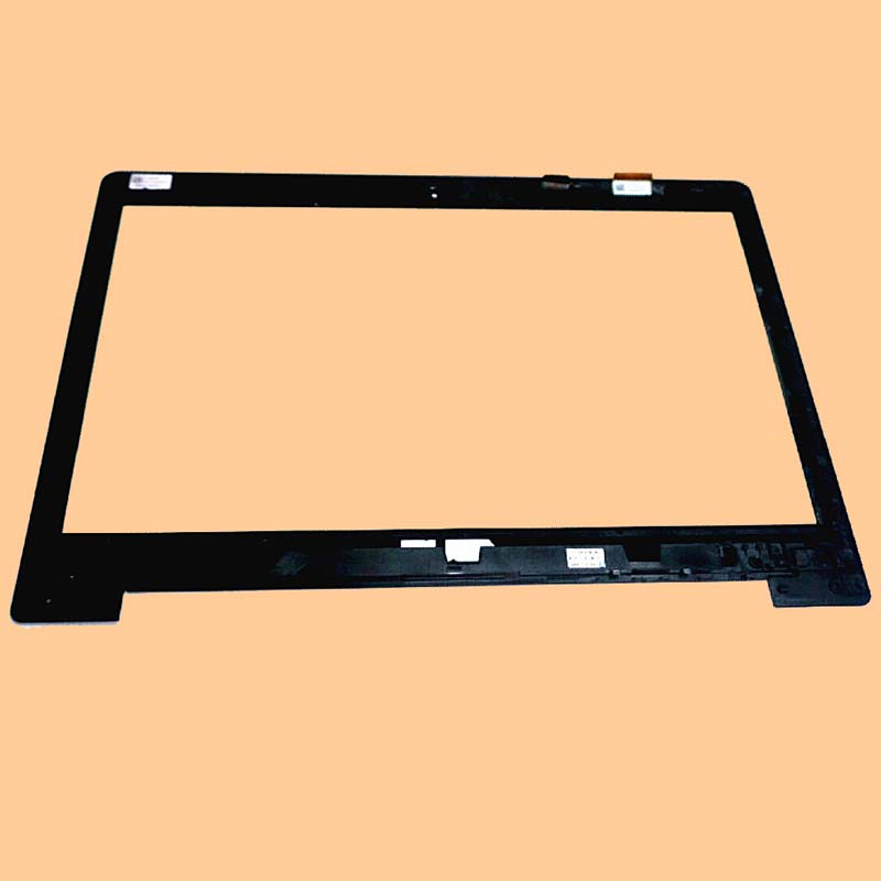 100% Test Black For ASUS VivoBook S400 S400CA 14 Front Touch Screen Digitizer Panel Glass Sensor With Frame touch screen digitizer glass for asus vivobook v550 v550c v550ca tcp15f81 v0 4