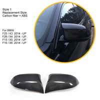 Car Styling Carbon Fiber Replacement Side Mirror Cover Caps for BMW F15 X5 F16 X6 2014 2015 2016 2017 2018 2019