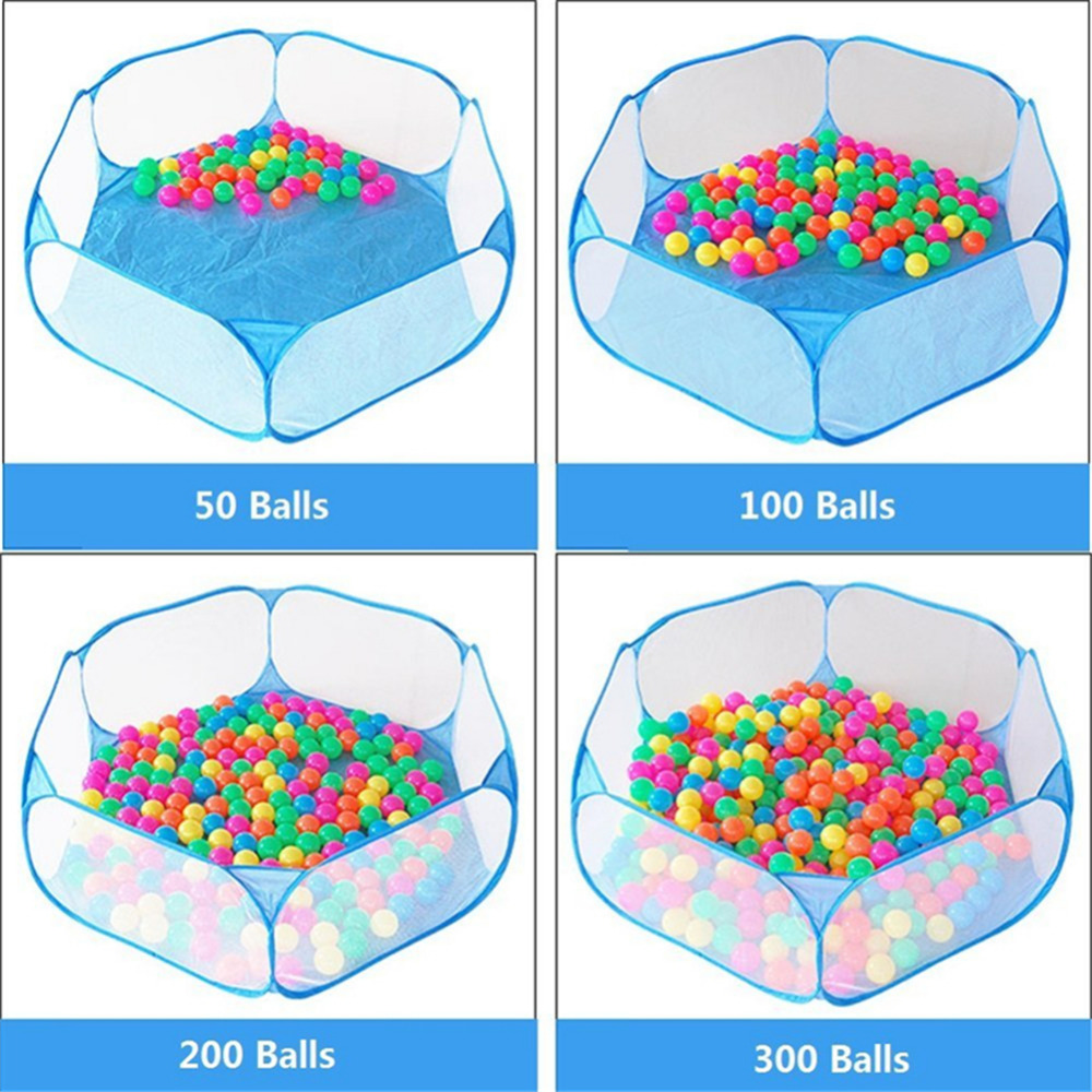 New Kids Ball Pool Pit Outdoor Indoor Playpens Portable Baby Play Tent Children Toy Ocean Balls Pool With Carry Tote