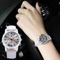 OKTIME Superior Diseño de Banda de Aleación de Cuarzo Reloj de pulsera de Cuero Casual erkek kol saati Reloj relogio masculino feminino de Noviembre 29