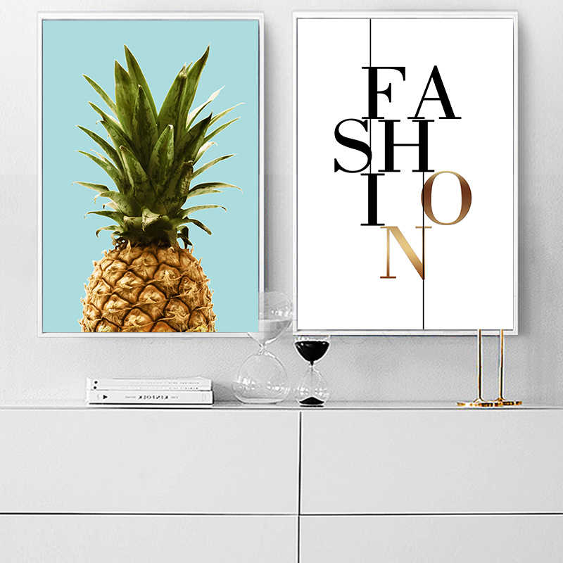 Nordic Pineapple Poster Prints Minimalist Wall Art Hipster Canvas Painting Canvas Picture For Living Room Home Decor Unframed