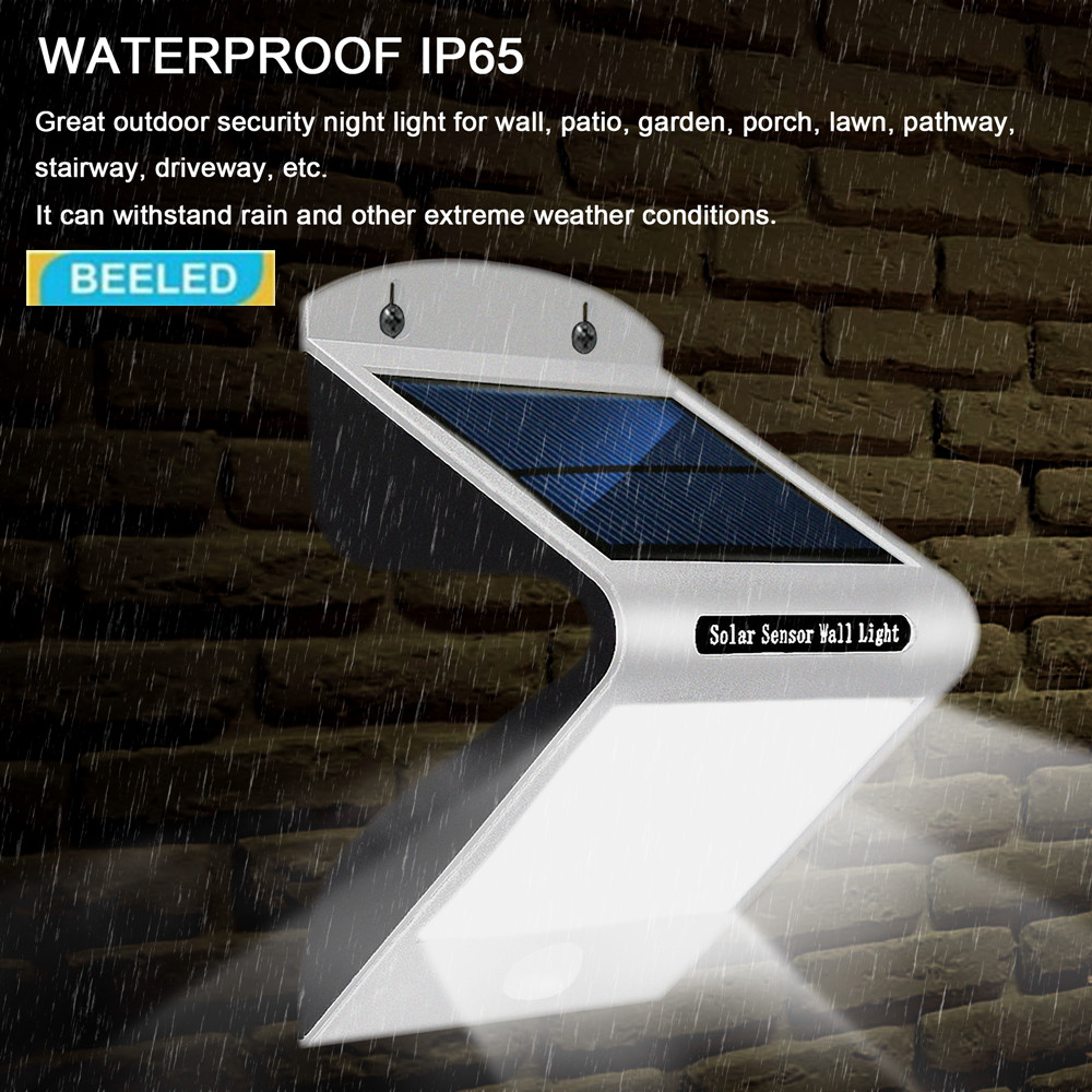 SOLAR LIGHTS OUTDOOR 20 LEDs Super Bright Motion Sensor Lights with Wide Wireless Waterproof Security Lights white light