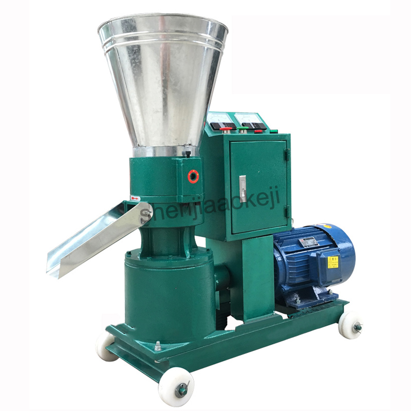 Feed pellet machine Chicken, duck, cattle, pig ,rabbit and fish Medium and small granulator feed pellet mill machine,with motor