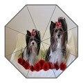 Neue Kommen Nach yorkshire terrier hund Sonnenschirme Kreative Design Hohe Qualität Faltbare Regen Regenschirm-in Schirme aus Heim und Garten bei