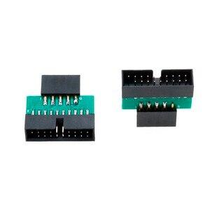Image 2 - YuXi USB3.0 19 PIN 20 pin female to USB2.0 9 pin male adapter USB 3.0 19/20Pin to USB 2.0 9PIN converter adapter Chassis Front