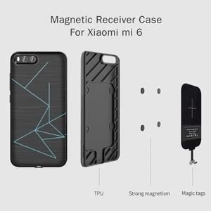Image 1 - Için xiaomi mi 6 Nillkin QI Kablosuz şarj alıcılı kılıf arka kapak ile Uyumlu Manyetik Tutucu 5.15 xiaomi mi6