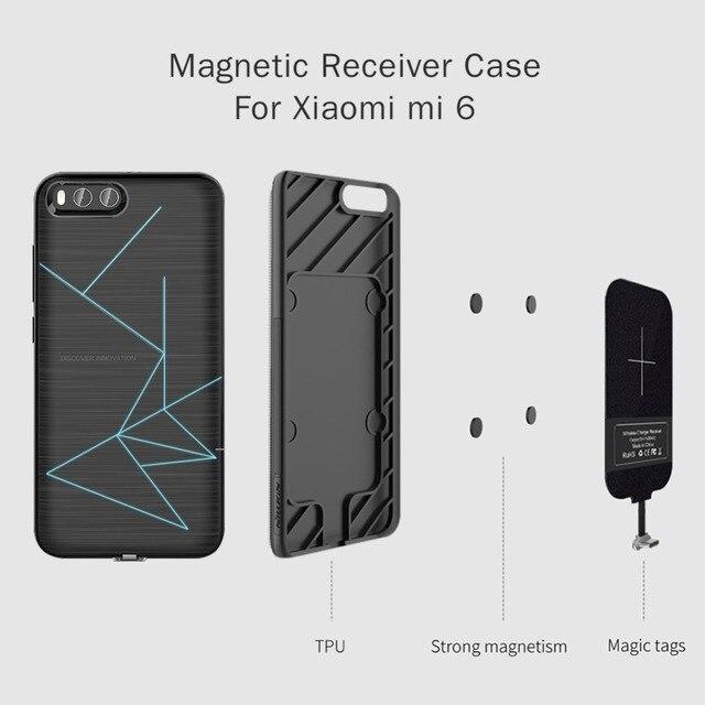 Için xiaomi mi 6 Nillkin QI Kablosuz şarj alıcılı kılıf arka kapak ile Uyumlu Manyetik Tutucu 5.15 xiaomi mi6