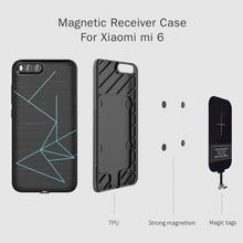 Pour xiaomi mi 6 boîtier Nillkin QI boîtier chargeur de récepteur sans fil couverture arrière Compatible avec support magnétique 5.15 pour xiaomi mi6