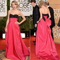 Sexy Off Shoulder Custom Made Sweetheart Red And Black Satin 2016 New Fashion Red Carpet Celebrity Dresses 2377