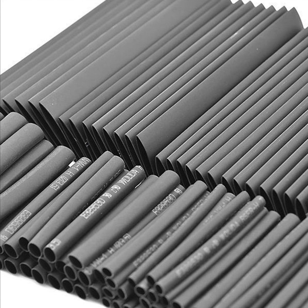 127PCS Black Environmentally Friendly Flame Retardant Heat Shrinkable Tube Set