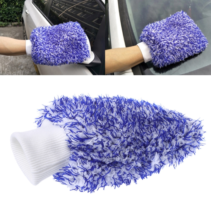 Car-Styling Oversize Big Size Car Wash Microfiber Mitt Glove Auto Clean Home Automobiles Dusting Tools