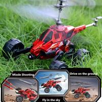 RC Drone Electric RC Aircraft Plane Helicopter Three Into One Flying Car For Children Gifts