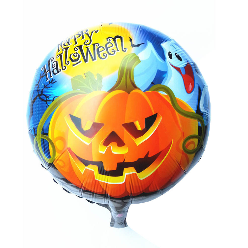 wholesale easter halloween party holiday decoration halloween pumpkin head decorative high grade aluminum film foil