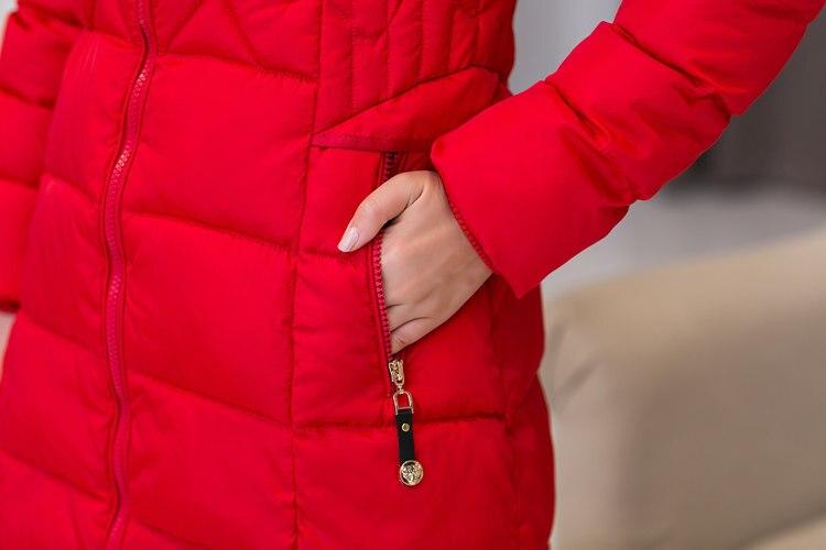 Bas Moyen Mince Le blue Grande À Vers red Black Femmes De Coton rembourré F1181 Veste Chaud Femme Capuche Manteau Coton D'hiver green Long Fourrure Taille 2016 Col qTIOx