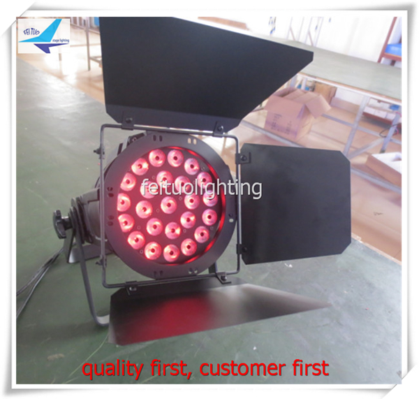 6 pieces Professional stage Lumiere 24*15 w 5 in 1 rgbwa led par barn doors dmx Sound Activated for Stage Lighting