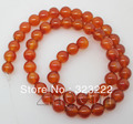 "8mm genuine red agate round loose beads gem 15""long"