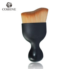 New Arrival Pro Contour Kabuki Contouring 82 Oval Makeup Air Brush Synthetic Hair Brush Wave Thick Soft Hair