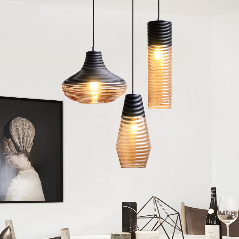 Nordic LED pendant lamps Vintage Pendant Lights Glass Hang lamp Living Room Bedroom Loft Industrial Home