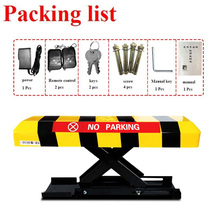 лучшая цена Rremote controllers parking lock car parking lot application/rising height 305mm automatic battery parking post barrier bollard