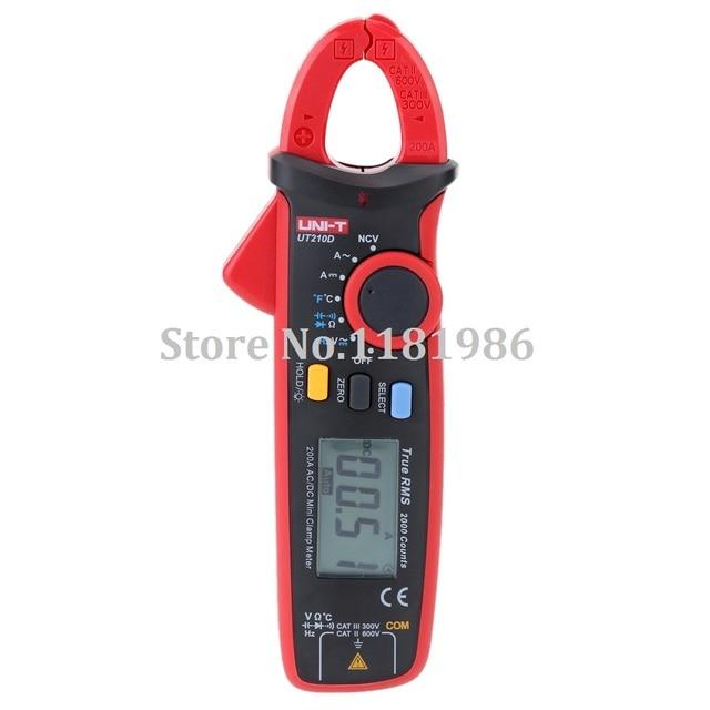 Uni T Ut210d Digital Clamp Meter Acdc Current Voltage Resistance