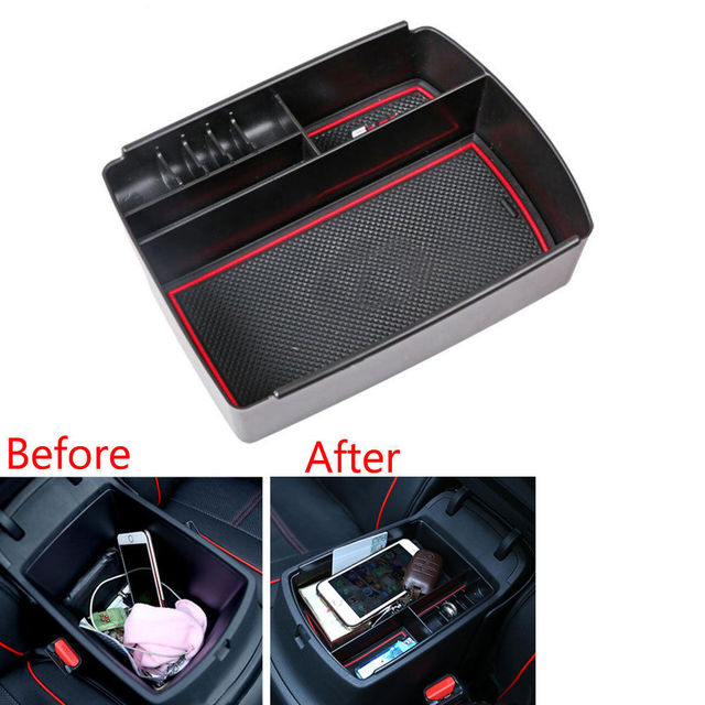 Fit Para 17 Kia Sportage Carro Novo Console apoio de Braços Central De Armazenamento Secundário Caixa-palete