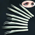 1 Pc Eyelash Extension Tweezer Stainless Steel Eye Lash Grafting Pincet Practical Makeup Tool