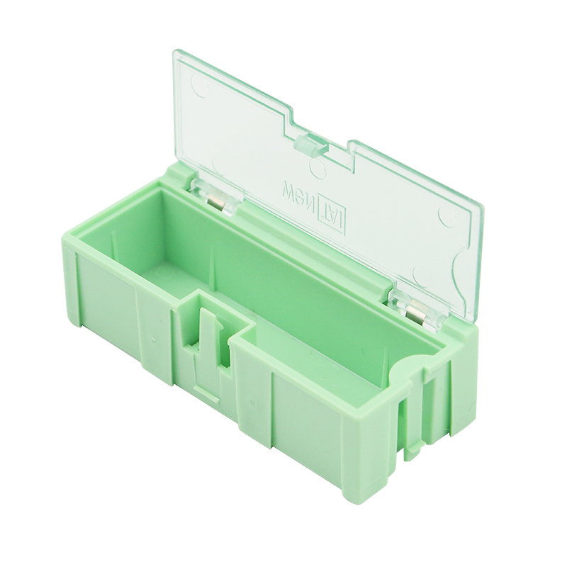 High Quality Small Storage Box Case Connectable 75 * 30 * 22 Mm Green Holder Container For  Accessories
