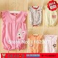 Novo 2015 frete grátis verão do bebê macacão de bebê meninos e meninas do bebê macacão de algodão crianças pijamas infantis pijamas