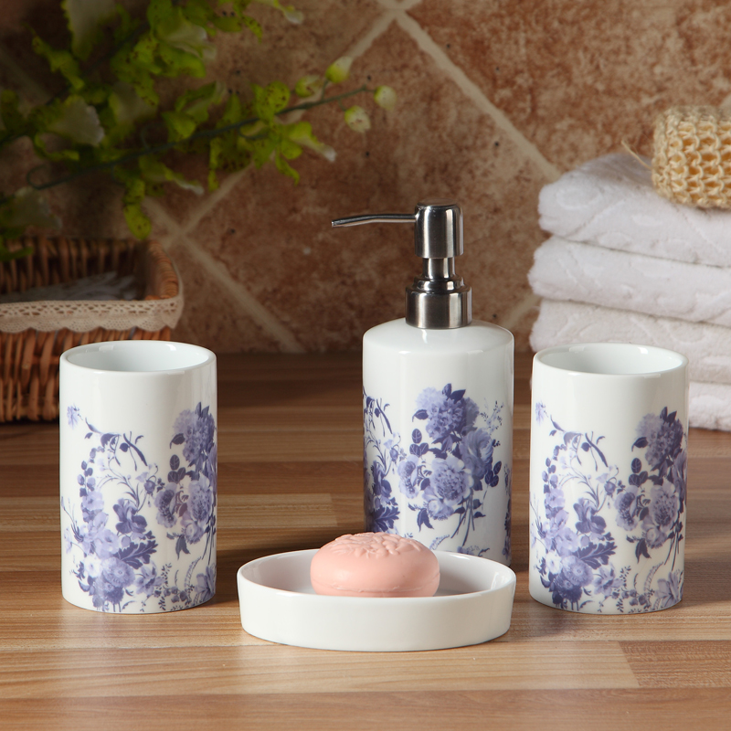 Porcelain Bathroom Set High Quality Ceramic Elegant