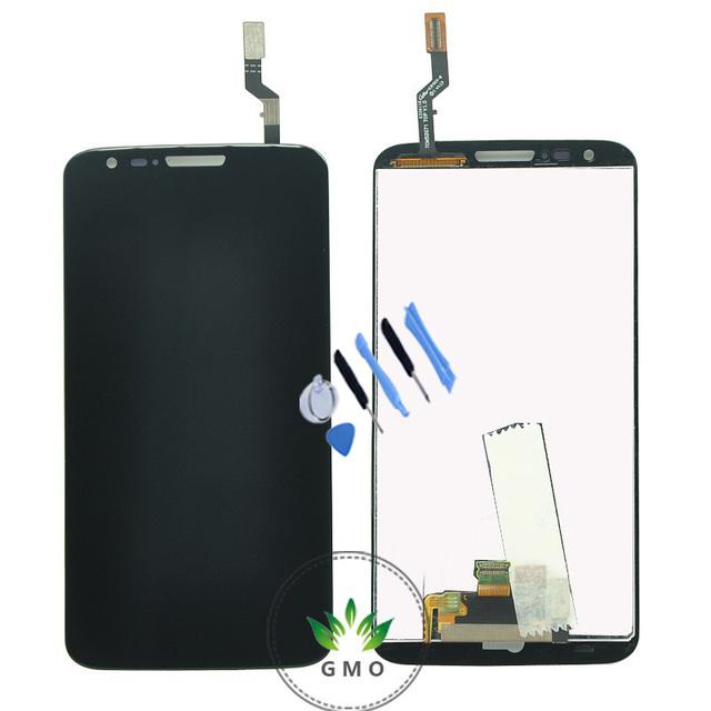 Pantalla lcd para lg g2 d800 d801 d803 con aeembly digitalizador de pantalla táctil negro blanco + herramientas