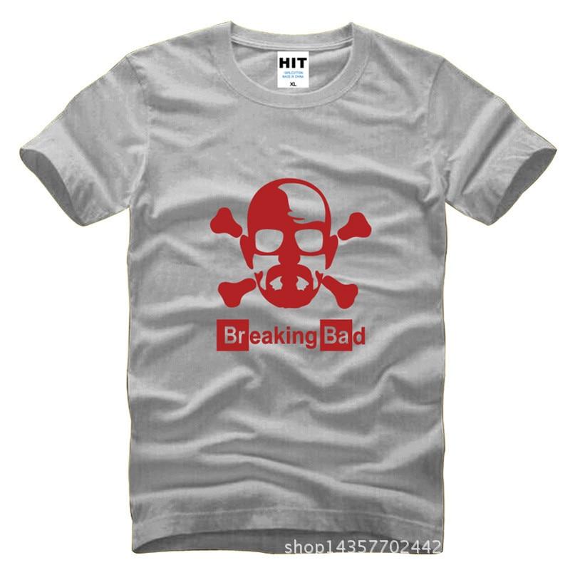 Breaking Bad Walter fehér koponya nyomtatott férfi férfi póló - Férfi ruházat