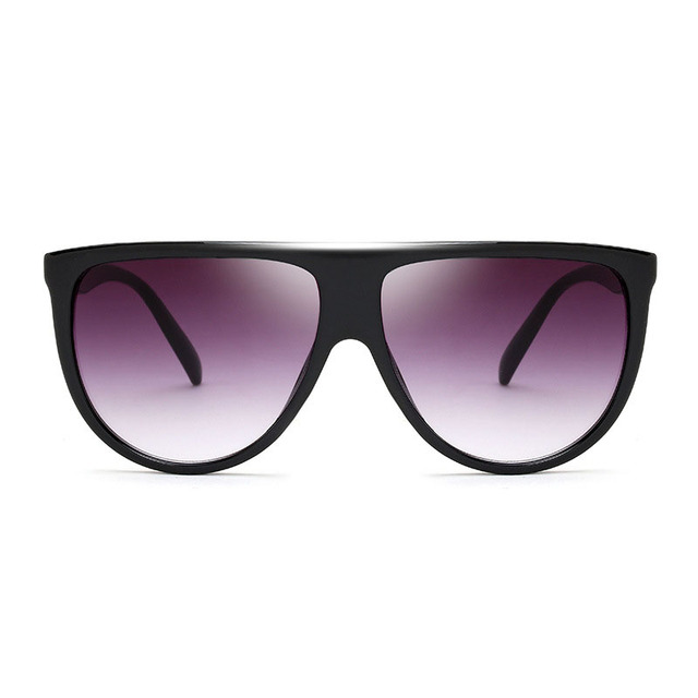 Oversized Square black Sunglasses transparent Frame