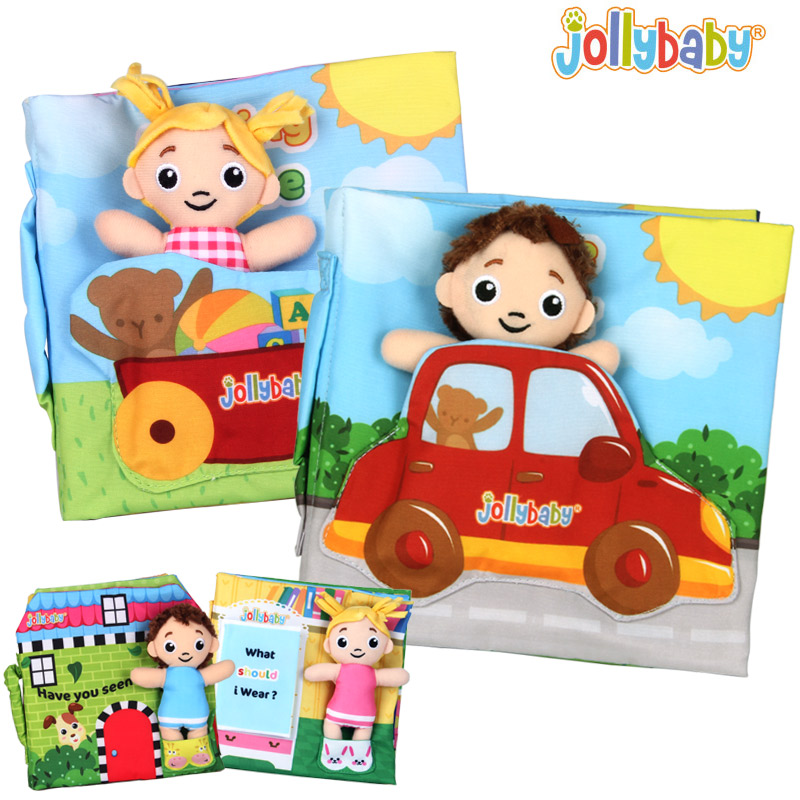 Baby Soft Cloth Books Development Early Learning Picture Activity Reading Mini Doll Educational Toys For Children 0-12 Months