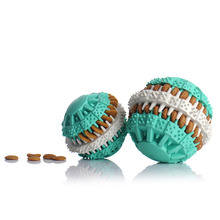 Pet Dog Chew Toys Food Leakage Ball Bite-Resistant Teeth Natural Non-Toxic Rubber Clean Teeth Food Dispenser for Dogs