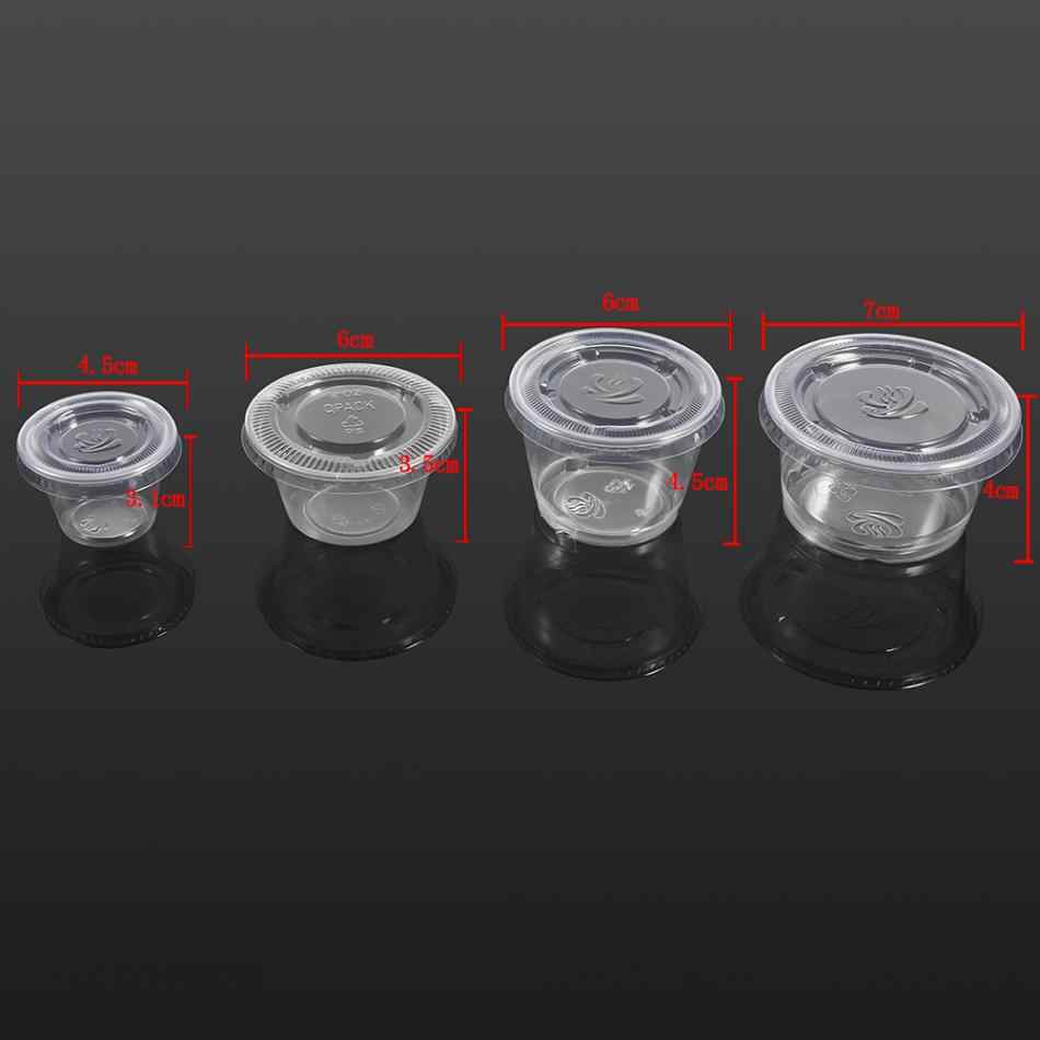 Disposable Sauce Chutney Cups Boxes With Lid Food Takeaway Storage Boxes  Plastic Food Container