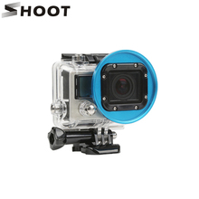 SHOOT Colorful 58mm Aluminum Alloy UV Lens Filter Adapter Ring For GoPro Hero 3 Action Camera Mount For Go pro 3 Accessories