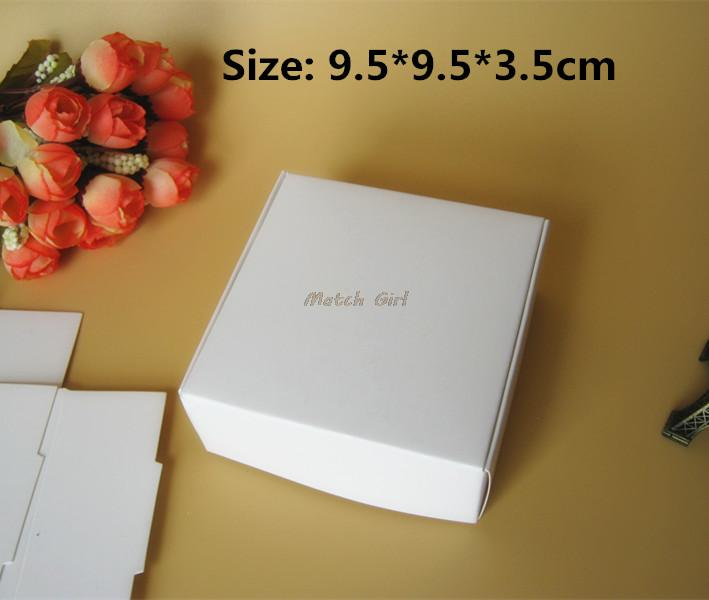 50pcs/lot-9.5*9.5*3.5cm Big Size Blank White Aircraft Cardboard Boxes Handmade Gift Jewelry Snack Packaging Boxes
