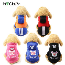 Pet Warm Coat Dog Hoodie Cute Lovely Autumn Winter Sweater For Small Medium Dogs Cotton Puppy Pet Overalls Outdoor Coat(China)
