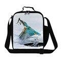 Aisladas bolsas de almuerzo para los niños de escuela lindo Pájaro, envase del almuerzo para las mujeres de trabajo de oficina, caja de almuerzo un bolso más fresco con correa para la muchacha