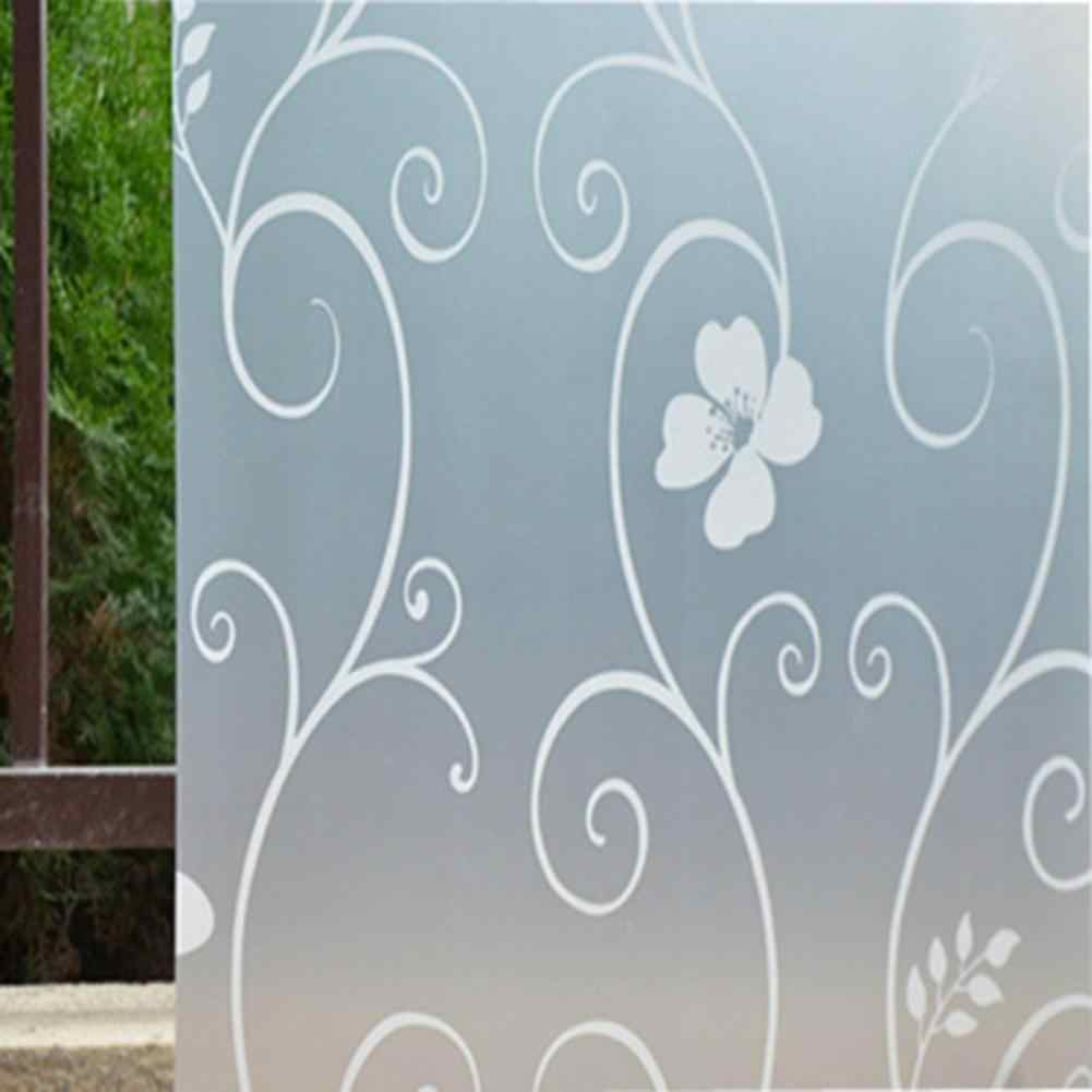 45x100cm Frosted Flower Bathroom Door Glass Window Cover Sticker Film Decor Decorative Films New