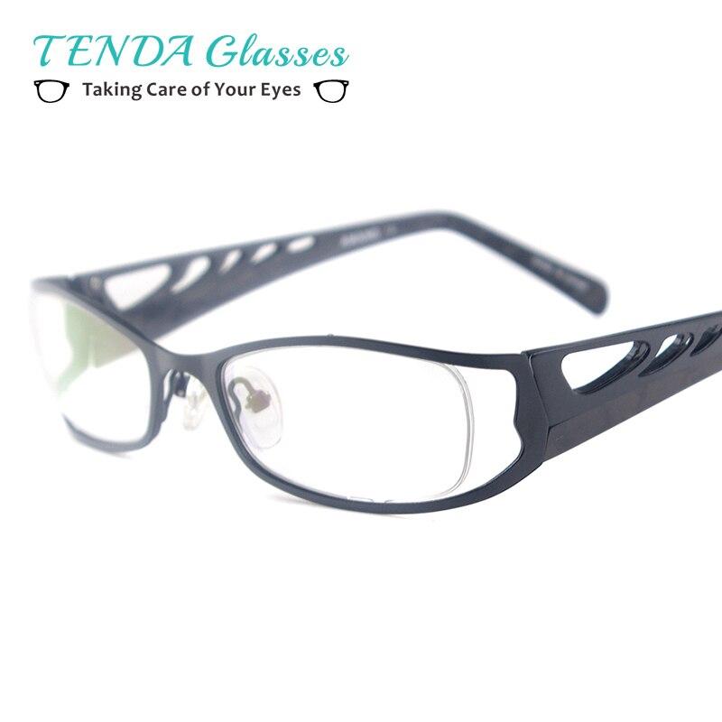 New Fashion Metal Eyeglasses Frame Oculos De Grau For Men and Women Myopia Prescription Lenses