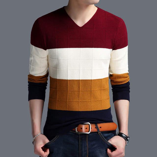 Korean Sweater Men 2017 Autumn New Men s Long-sleeved Slim Sweater Male  V-neck cf7453ee1e